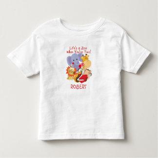 Camiseta De Bebé Niños del cumpleaños de los animales del parque
