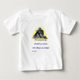 Camiseta De Bebé No acepte la admiración de su perro