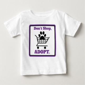 Camiseta De Bebé No haga compras adoptan