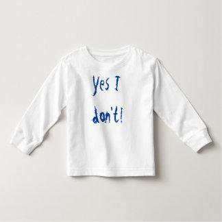 Camiseta De Bebé No hago sí