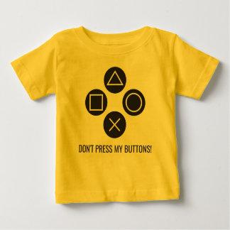 Camiseta De Bebé No presione mis botones