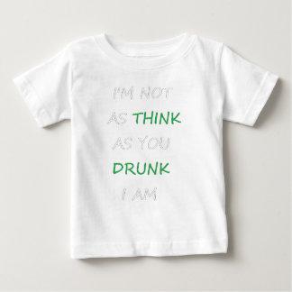 Camiseta De Bebé No según lo bebido