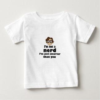 Camiseta De Bebé No soy un empollón apenas más elegante que usted