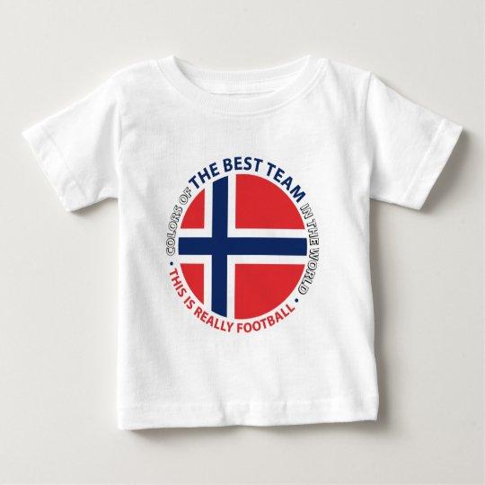 Camiseta De Bebé Norge Norway Art Shield