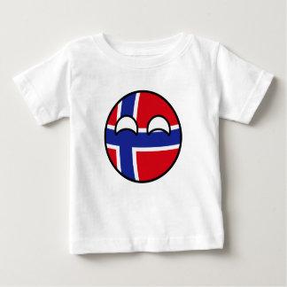 Camiseta De Bebé Noruega Geeky que tiende divertida Countryball