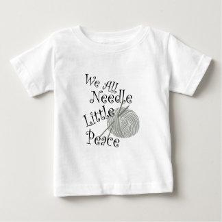 Camiseta De Bebé Nosotros toda la aguja poco arte que hace punto de