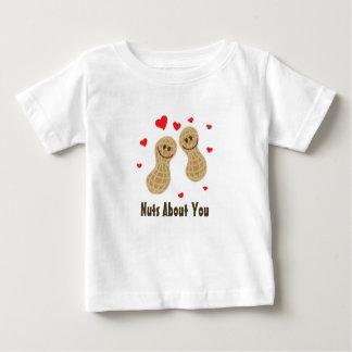 Camiseta De Bebé Nueces sobre usted humor lindo del retruécano de