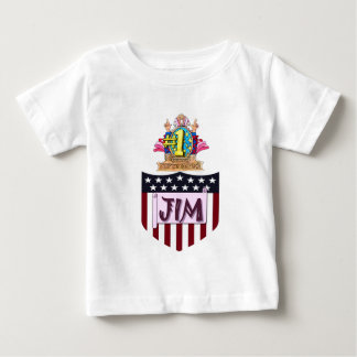 Camiseta De Bebé Número uno Jim