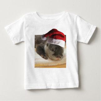 Camiseta De Bebé Nutria soñolienta del navidad