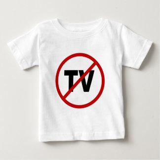 Camiseta De Bebé Odio TV /No TV no prohibido la declaración de la