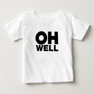 Camiseta De Bebé Oh, texto, palabras de la exasperación