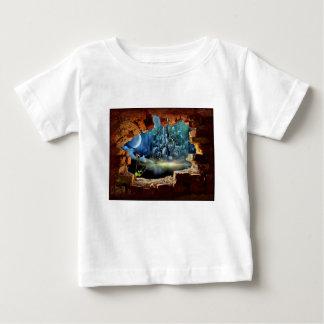 Camiseta De Bebé Opinión quebrada de la pared