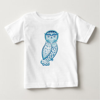 Camiseta De Bebé Ornamental azul Owl2