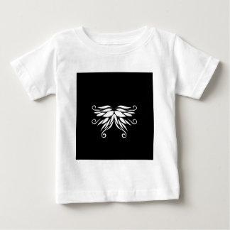 Camiseta De Bebé Ornamentos blancos negros del Nordic de Siberia