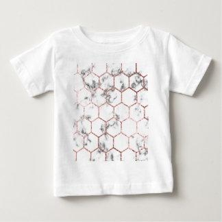 Camiseta De Bebé Oro, geometría, mármol, modelo, moderno, elegante,