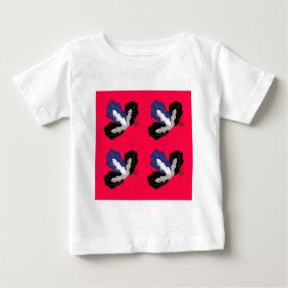 Camiseta De Bebé Orquídeas rosadas salvajes con negro
