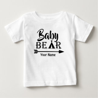 Camiseta De Bebé Oso de la flecha de hermano mayor personalizado