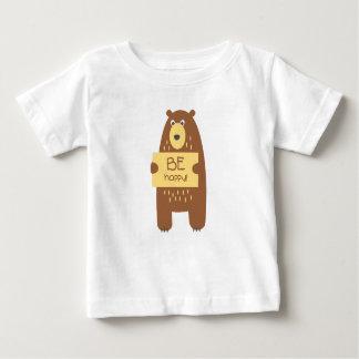Camiseta De Bebé Oso lindo con una muestra para el texto