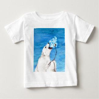 Camiseta De Bebé Oso polar con la melcocha tostada