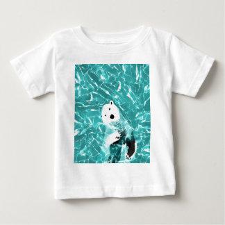 Camiseta De Bebé Oso polar juguetón en diseño del agua de la