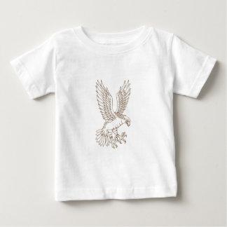 Camiseta De Bebé Osprey Swooping el dibujo