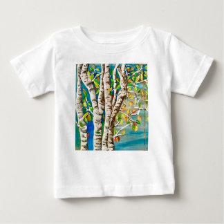 """Camiseta De Bebé """" Otoño Birches"""". Acrílicos y pai del"""