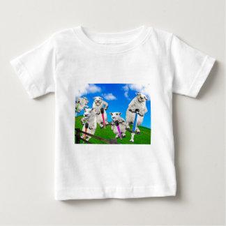 Camiseta De Bebé Ovejas de salto