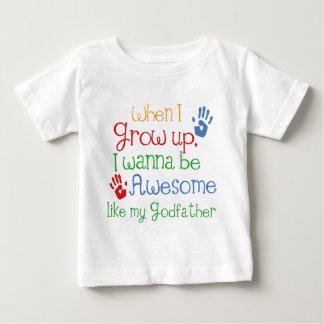 Camiseta De Bebé Padrino impresionante del regalo del ahijado
