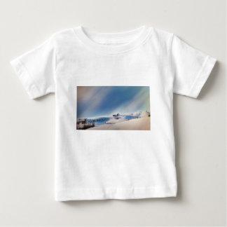 Camiseta De Bebé paisaje que nieva del invierno