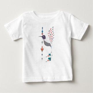 Camiseta De Bebé Pájaro azteca tribal étnico del vintage
