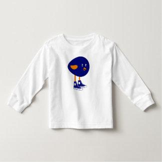 Camiseta De Bebé Pájaro azul en zapatos tenis