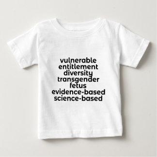 Camiseta De Bebé Palabras prohibidas en los E.E.U.U. (CDC y más)