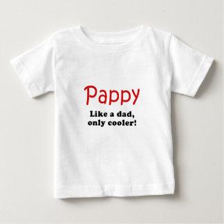 Camiseta De Bebé Pappy tiene gusto de un papá solamente más fresco