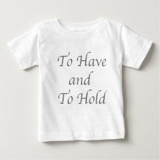 Camiseta De Bebé Para tener y sostenerse