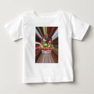 Camiseta De Bebé Parte diaria de la tarjeta del día de San Valentín