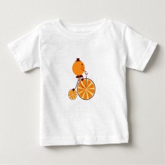 Camiseta De Bebé Paseo anaranjado