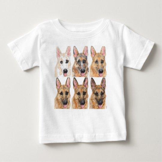 Camiseta De Bebé Pastor alemán del bosquejo al retrato | Zazzle.es