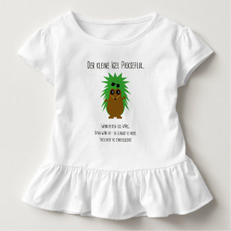 Camiseta De Bebé Pastor de volante con poema de erizo
