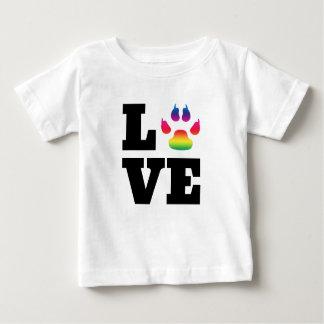 Camiseta De Bebé Pata del arco iris