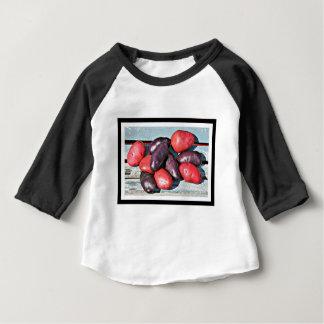 Camiseta De Bebé patatas rojas y púrpuras