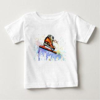 Camiseta De Bebé Patín de hielo de la acuarela