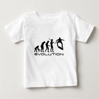 Camiseta De Bebé Patín de la evolución