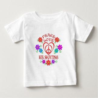 Camiseta De Bebé Patinaje de hielo del amor de la paz