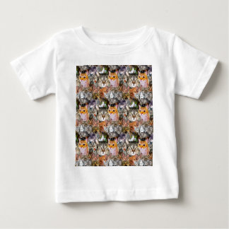 Camiseta De Bebé Pattern Cats