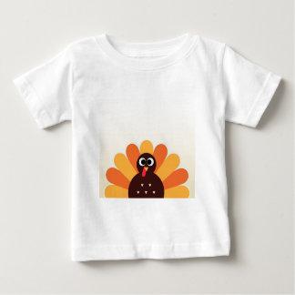 Camiseta De Bebé Pavo asombroso en el marrón, amarillo