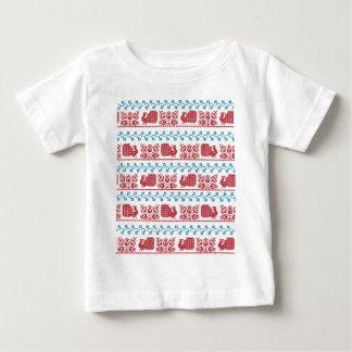 Camiseta De Bebé Pavo real y flores