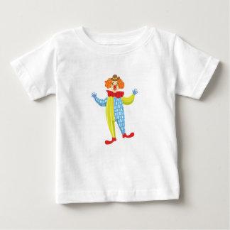 Camiseta De Bebé Payaso amistoso colorido en el gorra y la obra