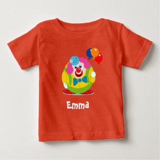 Camiseta De Bebé Payaso de circo lindo del dibujo animado de la