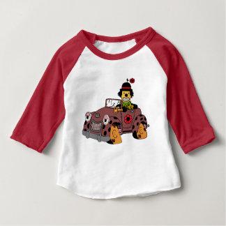 Camiseta De Bebé Payaso en coche