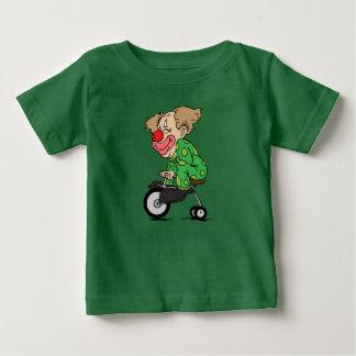 Camiseta De Bebé Payaso en el triciclo